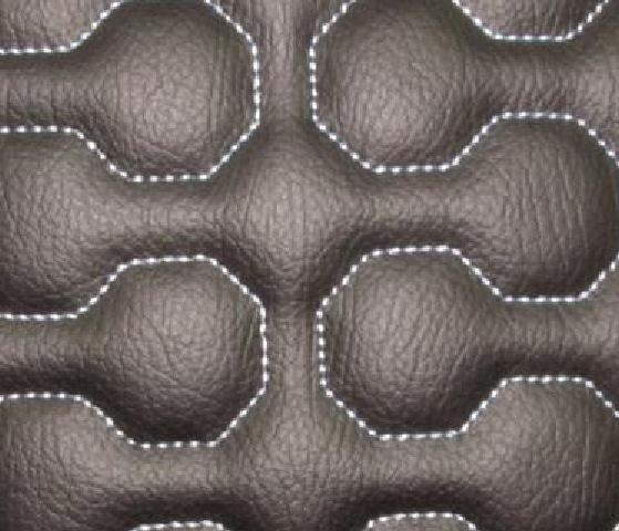 Interlock Polygon Leather Upholstery Pattern