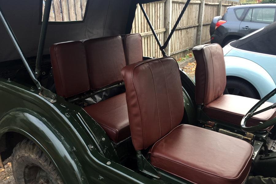 Austin Champ Car Canvas Hood Strapping Vinyl Seats